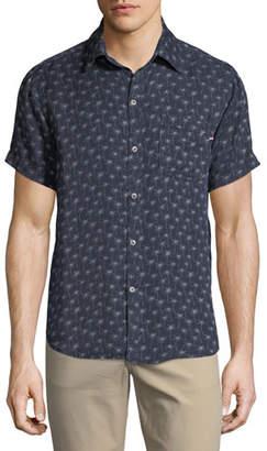 Sol Angeles Palm-fetti Print Short-Sleeve Sport Shirt