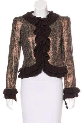 Magaschoni Structured Metallic Jacket w/ Tags