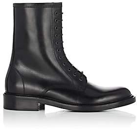 Saint Laurent Men's Timothy Leather Combat Boots - Black