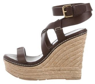 Ralph Lauren Collection Crossover Espadrille Wedges