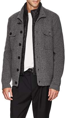 Fay Men's Wool Cardigan With Removable Vest