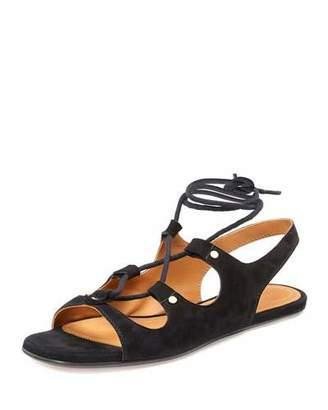 Chloé Lace-Up Slingback Gladiator Sandals, Black