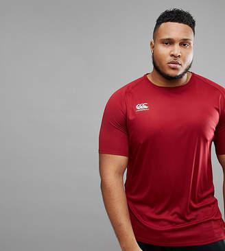 Canterbury of New Zealand PLUS Vapodri T-Shirt In Burgundy Exclusive To ASOS