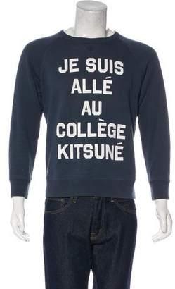 MAISON KITSUNÉ Text-Printed Crew Neck Sweatshirt