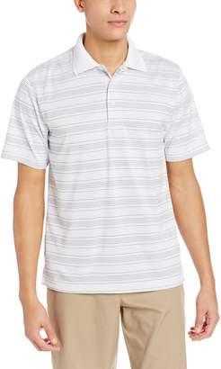 PGA TOUR Men's Golf Short Sleeve Fine Line Striped Polo Shirt