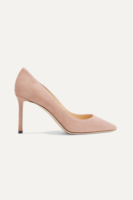 Jimmy Choo Romy 85 Suede Pumps - Neutral