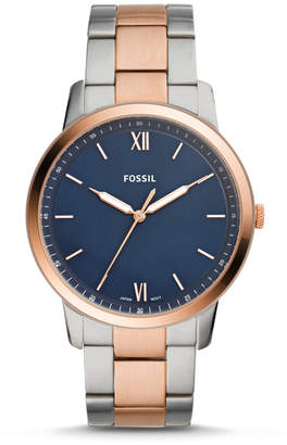 Fossil The Minimalist Three-Hand Two-Tone Stainless Steel Watch