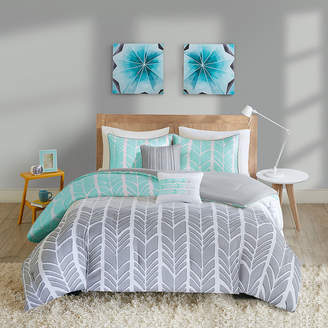 INTELLIGENT DESIGN Intelligent Design Kennedy Chevron Comforter Set