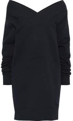 Burberry Off-the-shoulder Cotton-blend Fleece Mini Dress