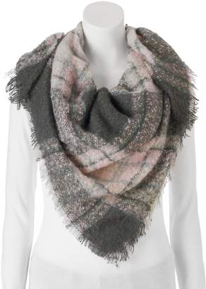 Candies Candie's Boucle Plaid Triangle Scarf
