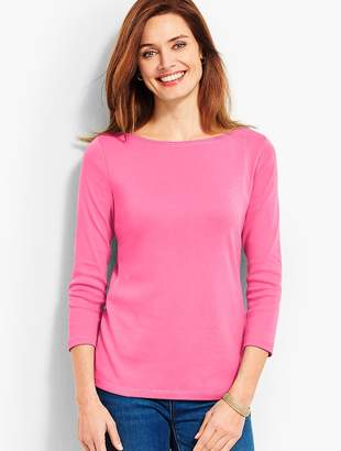 Talbots Three-Quarter-Sleeve Pima Bateau Tee
