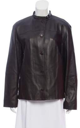 Max Mara Tailored Leather Jacket