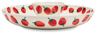 Kate Spade Strawberries Chip & Dip Bowl
