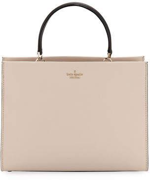 Kate Spade Cameron Street Sarah Crosshatch Leather Satchel Bag