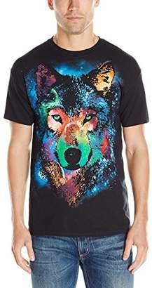 Liquid Blue Men's Cosmic Wolf T-Shirt