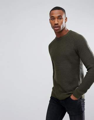 Jack and Jones Originals Knitted Sweater Cotton Rib