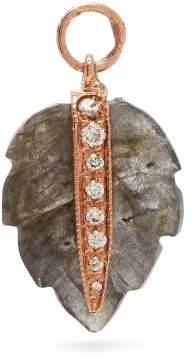 Jacquie Aiche Diamond, Labradorite & Rose Gold Charm - Womens - Green