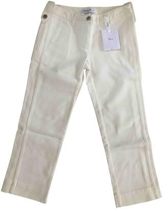 Christian Dior White Cotton Jeans for Women