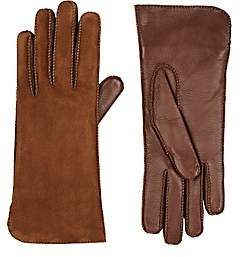 Barneys New York Women's Suede Gloves - Brown
