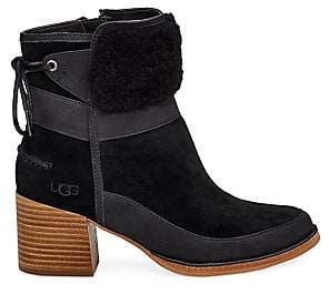 UGG Women's Kirke Shearling-Trimmed Leather & Suede Ankle Boots