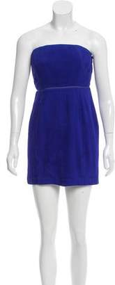 Adam Strapless Pleated Dress w/ Tags