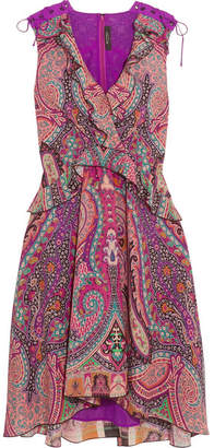 Etro - Ruffled Floral-print Silk Dress - Pink $1,930 thestylecure.com
