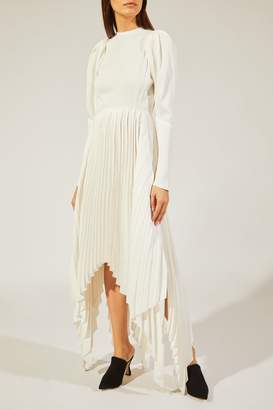 KHAITE The Greta Dress in Ivory