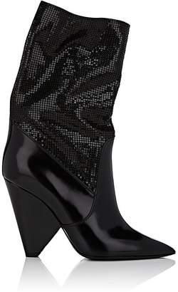 Saint Laurent Women's Niki Leather Ankle Boots