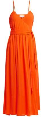 Mara Hoffman Alma Crepon Wrap Dress - Womens - Orange