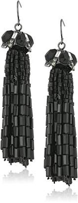 "Carolee Midnight Tower"" Tassel Cap Drop Earrings"