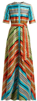 Mary Katrantzou Maar Chevron Stripe Organza Gown - Womens - Multi