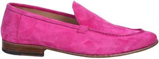 Seboys fuchsia suede moccasin and leather sole