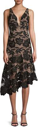 Tracy Reese Women's Lace Asymmetrical Hem