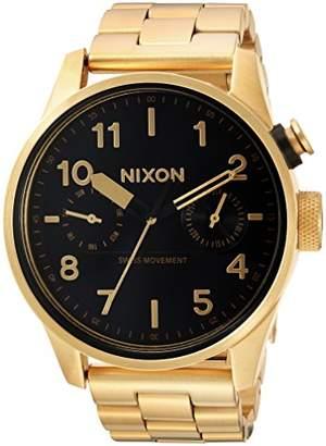 Nixon Men's 'Safari Deluxe' Swiss Quartz Stainless Steel Casual Watch