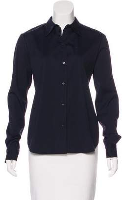 A.L.C. Twist-Accented Button-Up Top