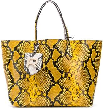 Rochas snake effect tote bag