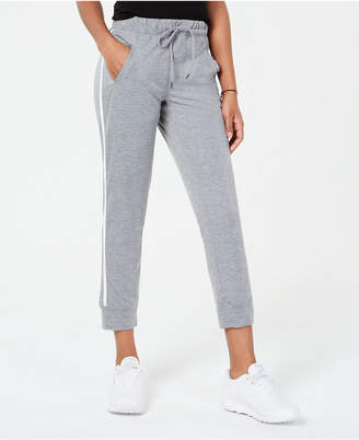 Material Girl Active Juniors' Side-Striped Jogger Pants