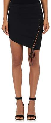 Mason by Michelle Mason MASON BY MICHELLE MASON WOMEN'S LACE-UP TWILL MINISKIRT $450 thestylecure.com