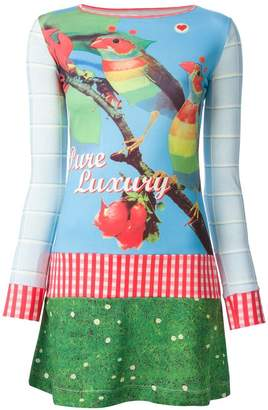 Walter Van Beirendonck Pre-Owned 'Welcome Little Stranger' mix print dress