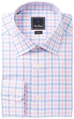 David Donahue Plaid Trim Fit Dress Shirt $135 thestylecure.com