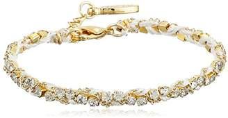 Ettika Silk Thread and Rhinestone Crystal Braided Bracelet