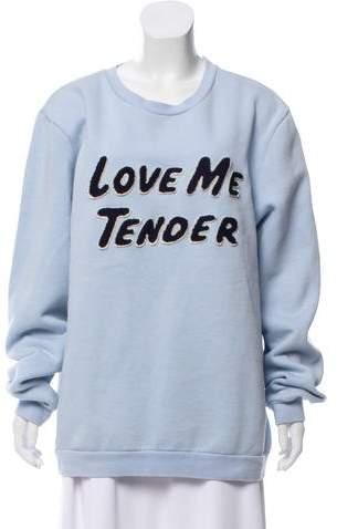 Love Me Tender Oversize Sweatshirt