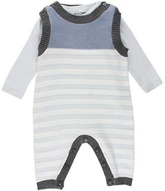 Camilla And Marc FIXONI Baby Boys' Strampler gestrickt mit Langarmbody Clothing Set, (Illusion Blue), 62 cm