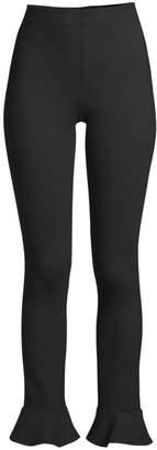 Lilly Pulitzer Nira High-Rise Ponte Ruffle-Hem Leggings