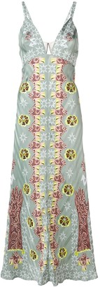Temperley London Flux printed slip dress