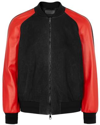 Neil Barrett Lightning Leather Bomber Jacket