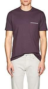 Brunello Cucinelli Men's Cotton Jersey Pocket T-Shirt - Mauve