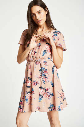 Jack Wills Dress- Perwent Soft Printed Tea
