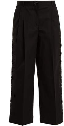 Dolce & Gabbana Button-embellished cropped trousers