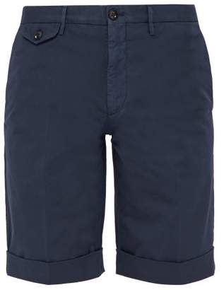Incotex Batavia Cotton Blend Chino Shorts - Mens - Navy